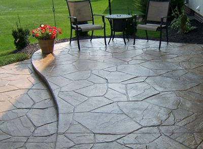 Decorative concrete patio in Stamford.