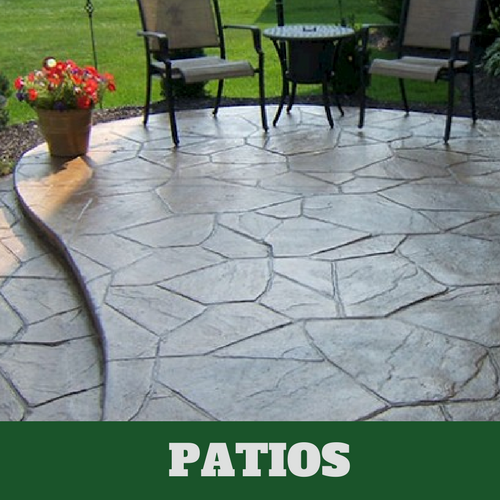 Residential patio in Stamford, CT with a stamped finish.